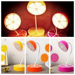 Wholesale Protection Lamp - USB Charging Table Decoration Fresh Fruit Desk Lamp Night Flexible Dimmable Eye Protection Lemon Pitaya Orange Shape Light CCA8113 30pcs