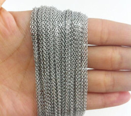 Wholesale Crosses Findings - 10meter Lot Wholesale Price 316L Stainless Steel 2mm 3mm Silver Cross Tone Chain DIY Jewelry Finding For Pendant In Bulk