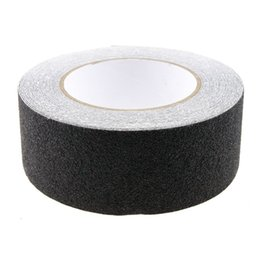 Wholesale Stickers Stairs - Wholesale-10M Roll of Anti Slip Tape Stickers for Stairs Decking Strips For Stair Floor Bathroom Self Adhesive(Black)