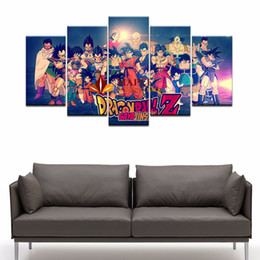 Wholesale custom landscaping - Large Wall Art Canvas Prints Painting Dragon Ball Picture For Kid'S Room Decoration custom canvas print photo modern bedroom wall painting
