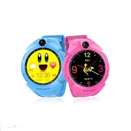 Montre-bracelet de localisation pour enfant en Ligne-Q610 Kid Smart montre Caméra Base Lieu Écran Tactile Enfant Poignet Bande APP SOS Anti-Perdu Moniteur Bébé Brecelet Smart Watch GPS Locator