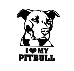 Wholesale Reflective Graphics - Hot Sale Cool Graphics Car Sticker I Love My Pitbull Car sticker I Love My bulldog reflective waterproof stickers
