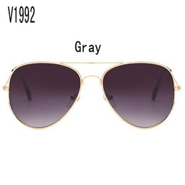 Wholesale China Blue Colour - sunglasses for women purple korea oval face women case side shields china colour glass wholesale brand retro Uv protection V1992 with box
