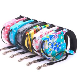 Wholesale Automatic Pet Dog Traction Rope - 5M Automatic Pet Dog Harness Retractable Dog Collar Pet Traction Rope Chain Harness for Dog Accessories