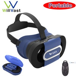 Wholesale Glasses Goggles Iphone - Wholesale- Ritech VR Go Glasses Google Cardboard Virtual Reality Goggles Folding 3D Glasses for iPhone Samsung Huawei Xiaomi 4.0-6.0 inch