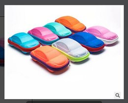 Wholesale Eyeglasses Cases Free Shipping - Wholesale-ML-08 Portable Multicolor Car Children Kids Sunglass Eyewear Eyeglasses Sunglasses Hard Zipper Case Box Free Shipping