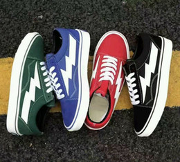 Wholesale Men Fur Plaid - 2017 Newest Revenge X Storm old skool Classic black white red blue green light men and women Casual Shoes sneakers skateboard shoes 36-44