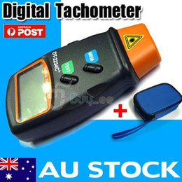 Wholesale Rpm Tacho - DIGITAL LCD LASER TACHOMETER - HANDHELD RPM REV COUNTER TACHO KIT WITH CASE
