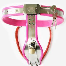 Wholesale Types Female Chastity Belts - 2017 Stainless Steel Female Chastity Belt Devices Fetish Short Y Type Chastity Belt Bondage With Lock G7-5-26