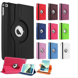 Wholesale Tablet Mini Cover - For Apple ipad 2 3 4 9.7 12.9 Durable Tablet PC Cases 360 Rotating Pu Leather Stand Screen Protector Back Cover for ipad Mini 1 2 3 4 Air 2