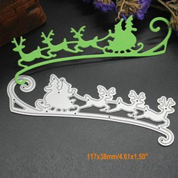 Wholesale Paper Santa Claus - Long Santa Claus DIY Metal Cutting Dies Stencil Scrapbook Card Album Paper Embossing Crafts