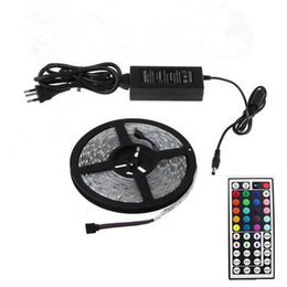 Wholesale Power Supply Keys - LED Strips with 44 Keys Controller+ Power Supply IP65 Waterproof 300 LED 5M SMD5050 RGB LED Strip Light