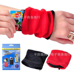 Wholesale wrist pouches - Wrist Wallet Outdoor Activities Exercising Shopping Wristlet Strap Zippered Pouch Key Case Absorbent Small Change Multifunction Bag 2 4cj R