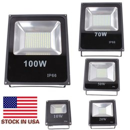 Wholesale Waterproof Led Lights Cooler - 2016 Hot Sales 10W 20W 30W 50W 100W Outdoor Waterproof Led Floodlights Warm Cool White IP66 Led Flood Lights 85-265V Stock In US