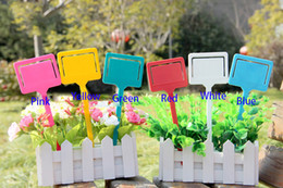 Wholesale Plastic Hang Tags Wholesale - Mini Plastic Garden Diy planting Flowers tags labels Hang Tag Marker Garden Ornamement Usage Labels Wholesale 3pack lotsFree shipping