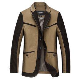 Wholesale Korea Men Coat Styles - Wholesale- Higt Quality 2016 New Arrival New Patchwork Cotton Men Suit Casual Slim Fiit Blazer Men Korea Style Coat Big Size M-XXXL