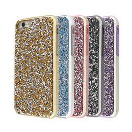 Wholesale Iphone Case Glitter Rhinestone - 2 in 1 Luxury Premium Bling Diamond Rhinestone Glitter Back Case Cover For iPhone X 8 7 6 6S Plus Samsung S8 note 8