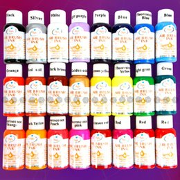 Wholesale Nail Airbrush Paint Ink - Wholesale- Free Shipping - 24 Colours 30ml Nail Art Airbrush Paint Ink For Tip Airbrush Painting Design