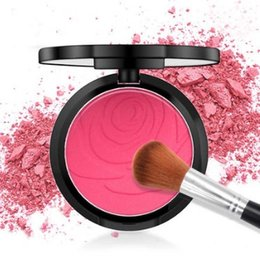 Impresión de hornear online-Rose Flower Print Matte Blush Palette Beautiful Baking Blush Powder paleta de maquillaje para maquillaje desnudo Single Color Blush Palette Long lasting