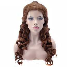Wholesale Belle Party - Belle Natural Long Body Wave And The Beast Clip Ponytail Brown Princess Cosplay Wig For Halloween Party