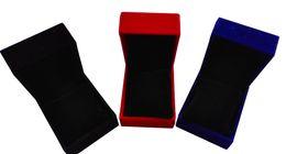 Blauer samt ansehen online-2017 neue design Schwarz / blau / rot samt box benutzerdefinierte abdeckung schmuck dekoration uhr box display lagerung Schweizer uhren veranstalter Marke Förderung