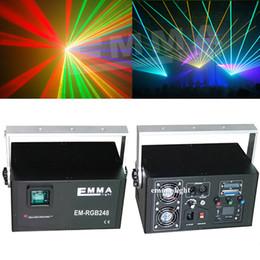 Wholesale Dmx Color Laser - laser rgb 4w full color cartoon projector ILDA DMX dance pub holiday music dj bar effect Light stage Lights Show