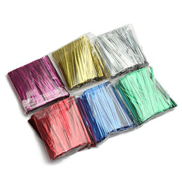 Wholesale Gift Bags Ties - 800Pcs Metallic Twist Tie Wire for Pack Candy Lollipop Cake Cello Bag Gift Wrap String
