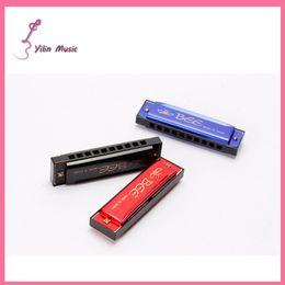 Wholesale Bee Resin - Wholesale-Free Shipping High quality BEE 10 Hole 20 Tone Blues Harmonica mini harmonica