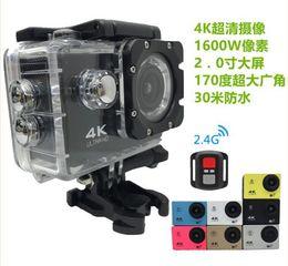 Wholesale Green Screen Hdmi - EKEN H9se 4K Action Camera Wifi 2 inch LCD WIFI HDMI 30M Waterproof 12MP 2.7K 1080P 60fps Sports DV Helmet Cam Cheap H9 DHL 5pcs