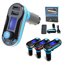 Wholesale Car Charger Audio Transmitter - 2017 New Car Kit BT66 Wireless FM Transmitter Audio MP3 Player AUX TF Radio Dual USB Car Charger For all Phones