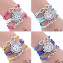 Wholesale Girls Watch Sets - 2017 luxury bracelet watches for Women bracelet types ladies bracelet bangle womens girl fashion watches acc256