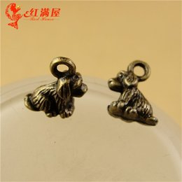Wholesale Dog Shaped Beads - 10*10*5MM Antique Bronze pet dog charm beads lot accessories handmade DIY retro wholesale, animal shaped jewelry, animal pendant