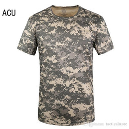 Wholesale Sport Paintball - Mens Summer Quick Dry O Neck T shirt Cool-Feeling Tops Marine Corps USMC Paintball SWAT T-shirt Tactical Style Tees for Outdoor Sport Cyclin