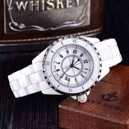Wholesale Drop Shipping Dresses - Luxury Brand Lady White Black Ceramic Watches High Quality Quartz Wristwatches For Women Fashion Exquisite Women Watches Drop Shipping