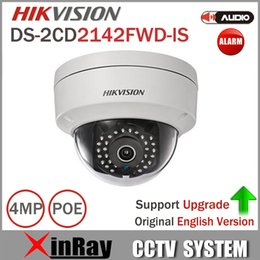 Wholesale Axis Ip Cameras - Hikvision Dome Camera DS-2CD2142FWD-IS 4MP POE IP Camera Day night Infrared 3-axis adjustment IP67 IK10 Protection IP Camera