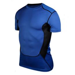2019 collant l Camicie aderenti da uomo aderenti Strato di base per allenamento fitness Top S-XXL collant l economici