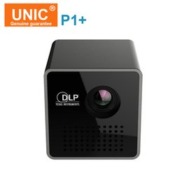 Wholesale Mobile Projectors - Wholesale- Original UNIC P1+ wifi wireless mini Mobile Projector Micro DLP LED Home Support Miracast DLNA Pocket Home Movie Projector
