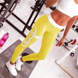 Wholesale Sexy Satin Clothes - 2017 New sports leggings fitness women gym sexy high waist Elastic knitted workout clothes for women leggins sport