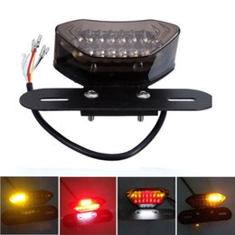 Wholesale Portable Red Signal Led Lights - Universal Motorcycle Portable LED Brake stop Tail Light Turn Signal Blinkers Integrated