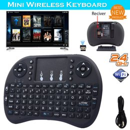 Wholesale Smart Tv Game - Mini Wireless Keyboard Rii i8 2.4GHz Air Mouse Keyboard Remote Control Touchpad For Android Box Smart TV 3D Game Tablet PC