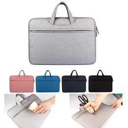 Wholesale Ipad Notebooks - Liner bag Shockproof waterproof notebook Briefcase for Macbook ipad air pro 11.6 13 14 15 inch laptop hand bag tablet protective cases DN006
