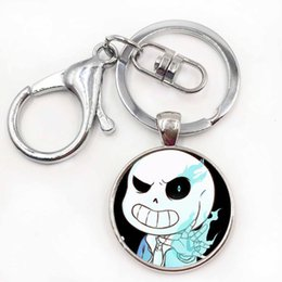 Wholesale Gifts For Gamers - Undertale Game Gamer Gaming Men DIY Cool Fashion Silver Keychain High Quality Pendant For Key Steampunk Jewelry Gift For Women