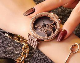Wholesale Davena Fashion Watch - 2016 hot women dress Austrian rhinestone watches fashion casual quartz watch Leopard steel wristwatch Luxury Davena 60089 clock