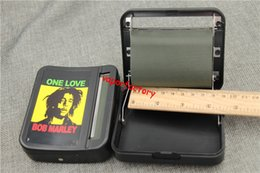 Wholesale Loving Machine - 8pcs Plastic Automatic cigarette rolling machine cigarette roller case hand Bob marley one love DIY case tool home 78MM tobacco roller box