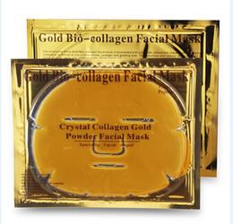 Wholesale Wholesale Gel Face Mask - Gold Powder Collagen Albumen Crystal facial Mask Girl Woman Skin Care Gel face mask masks Facial Peels 20pcs DHL free