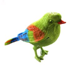 Wholesale Toy Plastic Birds For Kids - Wholesale-Funny Plastic Sound Voice Control Activate Chirping Singing Bird Toy For Kids Child Birthday Gifts Toys