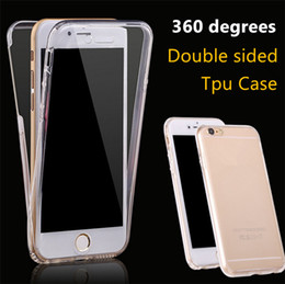 Wholesale protective covers for iphone 4s - For iPhone 7 7 6 6S Plus iPhone 4 4S 5 5S SE 5C 360 Degree Full Protective TPU Transparent Front and Back Full Covered Touch Case