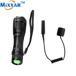 Wholesale Tactical Flashlight Remote Pressure Switch - CREE XM L T6 4000 Lumens Torch LED Torch Adjustable led tactical flashlights Linterna for Hunting Remote Pressure Switch