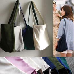 Wholesale Red Blue Song - Wholesale- Free Shipping Descendants of the sun, Song Hye Kyo New fashion women canvas handbag crossbody shoulder bag bucket tote bags