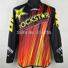 Wholesale atv s - 2016 Motorcycle Motocross Rockstar Jersey MTB ATV MX DH Men Dirt Bike Cycling Jersey Quick dry 100% polyester M-XXL